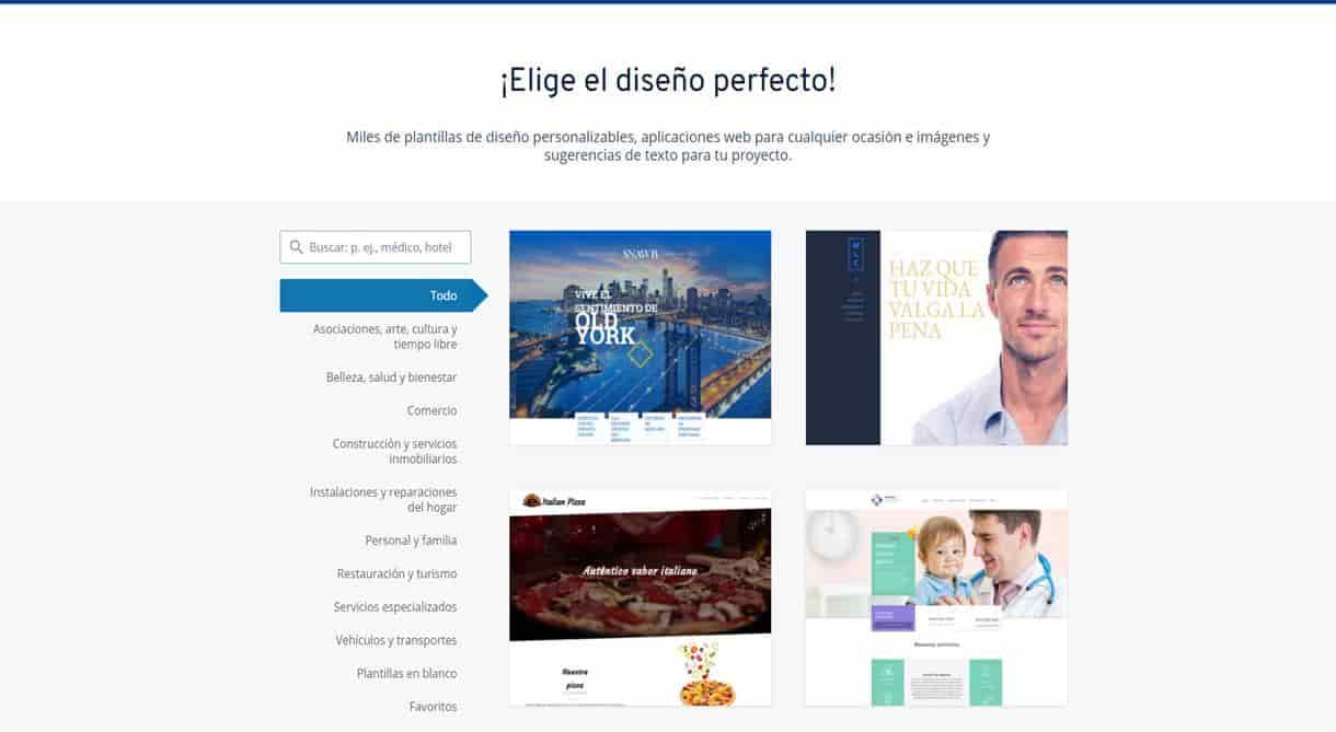 ejemplos de paginas web ionos